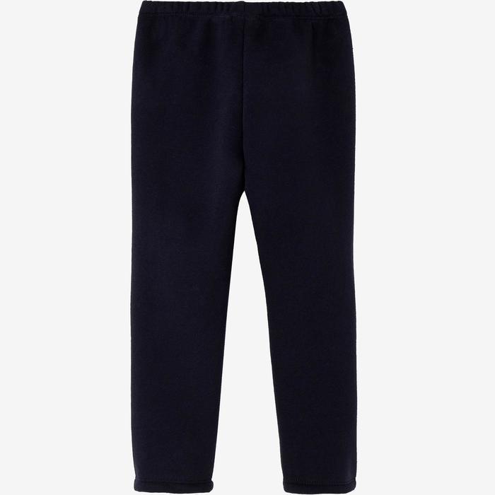 Joggingpak Warm'y zip 100 voor kleutergym grijs