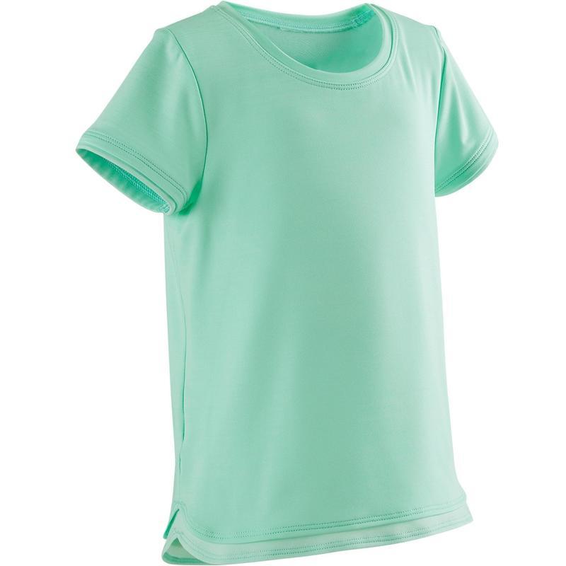 2e7d22669 Camiseta de manga corta gimnasia infantil S500 Keep In Up verde ...