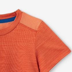 T-shirt met korte mouwen S500 voor peuter- en kleutergym oranje