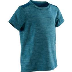 Camiseta Manga Corta Deportiva Gimnasia Domyos S500 Bebé Azul