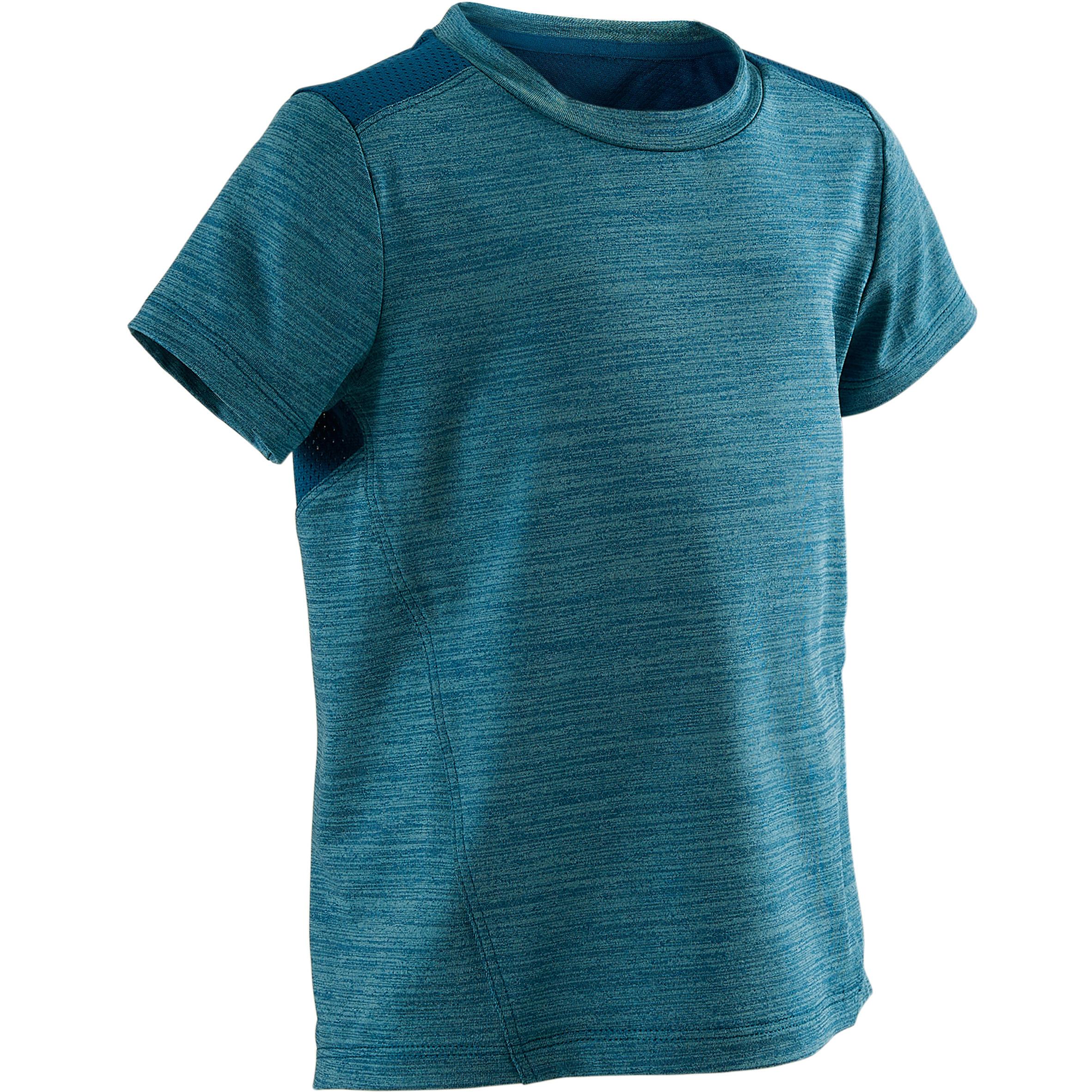Domyos T-shirt korte mouwen S500 Pruisisch blauw