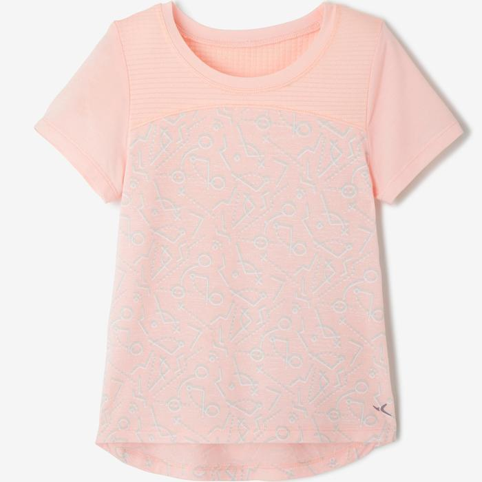 T-shirt manches courtes baby gym 500 DRY Rose