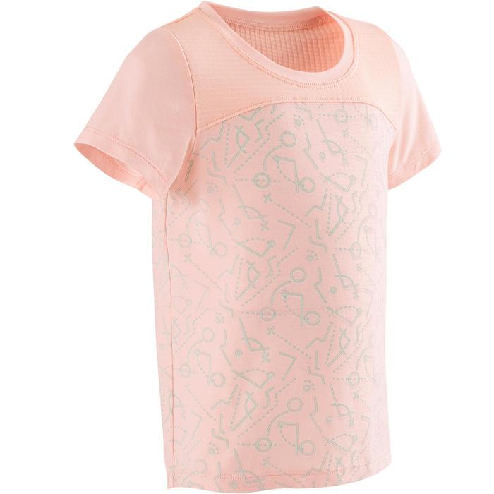 T-shirt met korte mouwen voor kleutergym 500 Dry roze