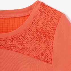 T-shirt met korte mouwen voor peuter- en kleutergym 500 Dry oranje