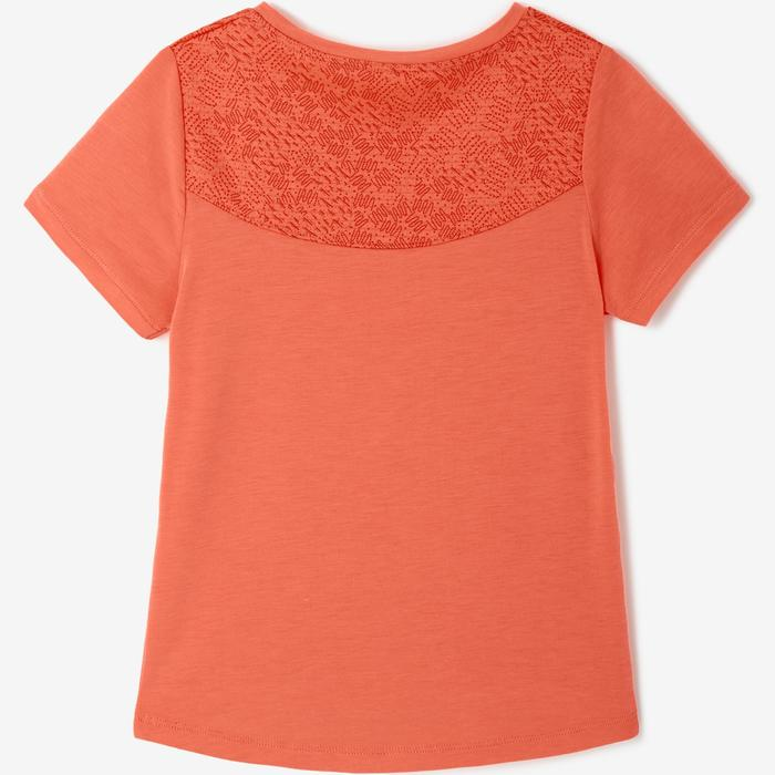 T-shirt manches courtes baby gym 500 DRY Orange