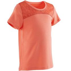 Camiseta manga corta Gimnasia Infantil 500 DRY Naranja