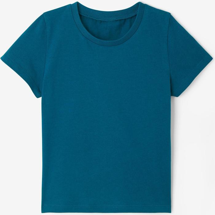 T-Shirt 100 2er-Pack weiß/blau
