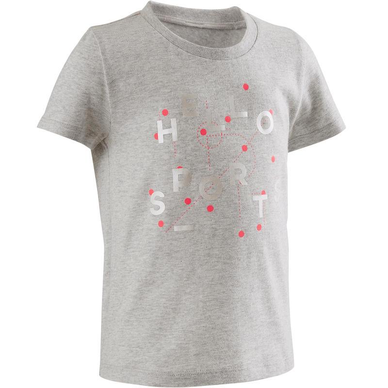 Camiseta de manga corta 100 lotex2 Gris/Rosada