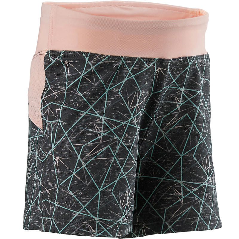 S500 Baby Gym Shorty - Grey/Pink