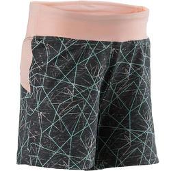 Pantalón Corto Chándal Short Domyos S500 Bebé 12 Meses-6 Años Gris/Rosa Estampad