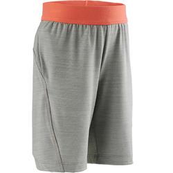 Pantalón Corto Chándal Short Domyos S500 Bebé 12 Meses - 6 Años Gris Naranja