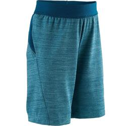 Pantalón Corto Chándal Short Domyos S500 Bebé 12 Meses - 6 Años Azul Turquesa