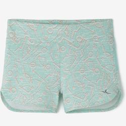 Pantalón Corto Chándal Short Domyos 500 Bebé 12 Meses - 6 Años Verde Menta