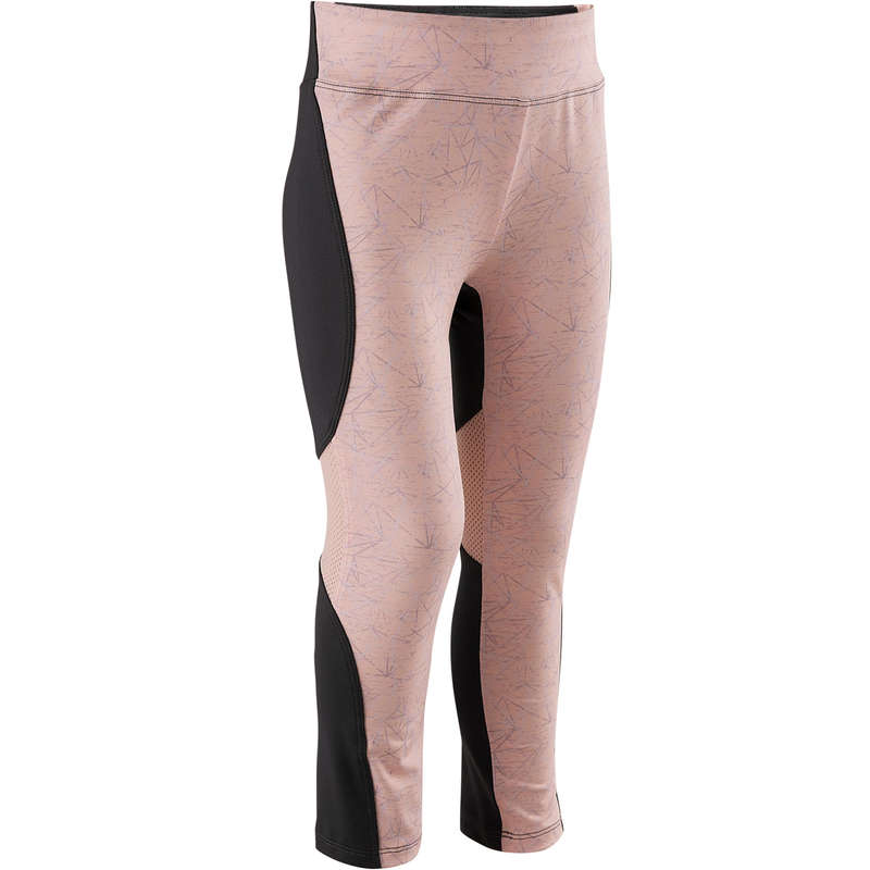 BABY GYM APPAREL Fitness and Gym - S500 Leggings - Grey/Pink DOMYOS - Gym Activewear