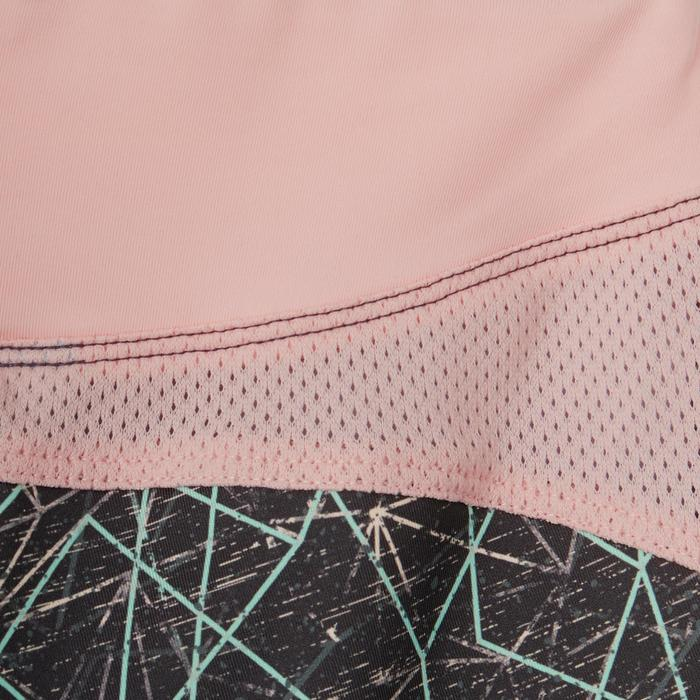 Legging voor kleutergym S500 grijs/roze