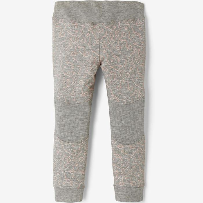 Leggings 500 Babyturnen grau
