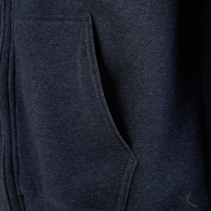 Chaqueta 900 con capucha Pilates y Gimnasia suave azul hombre