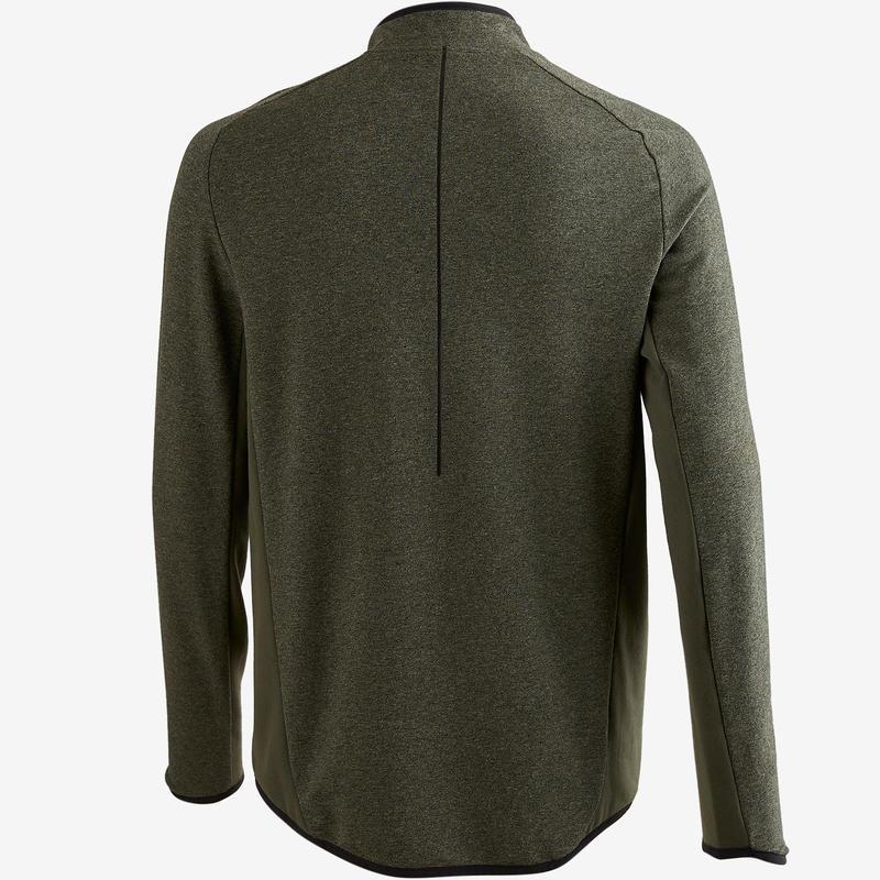 500 Pilates Gentle Gym Jacket - Mottled Khaki