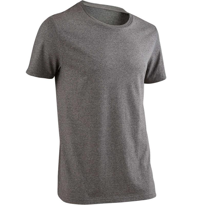 MAN GYM, PILATES APPAREL Clothing - Gym T-Shirt 100 - Grey DOMYOS - Tops