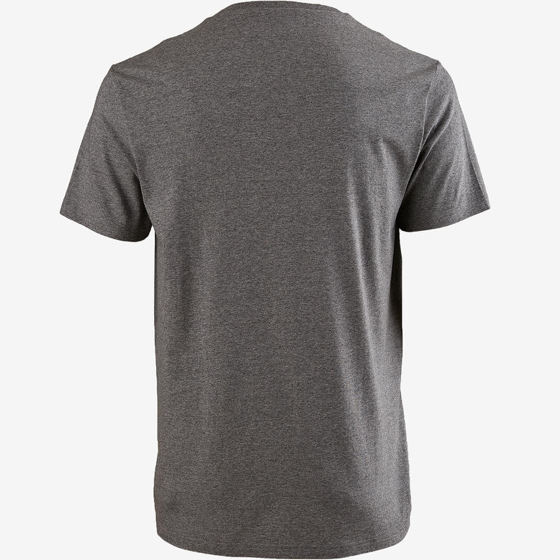 Men's Pilates & Gentle Gym Regular-Fit T-Shirt 100 - Grey