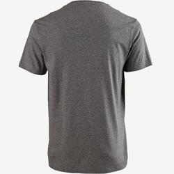 T-shirt voor pilates/lichte gym heren Sportee 100 100% katoen gemêleerd grijs