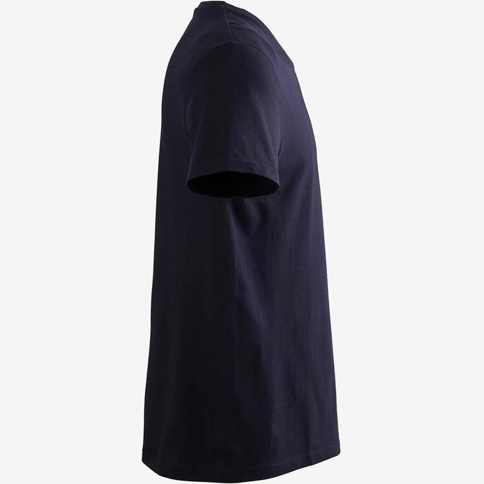 T-shirt voor gym heren Sportee 100% katoen donkerblauw