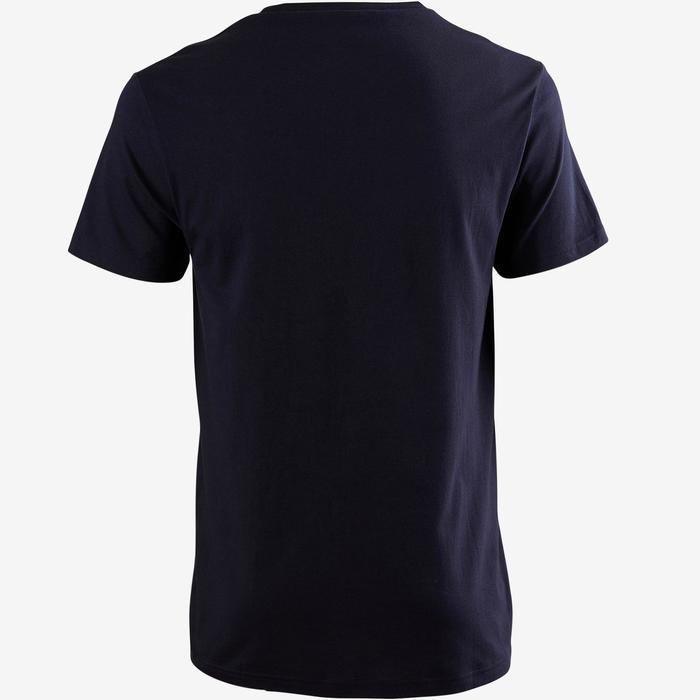 Camiseta Sportee 100 regular Gimnasia suave 100% algodón hombre azul marino