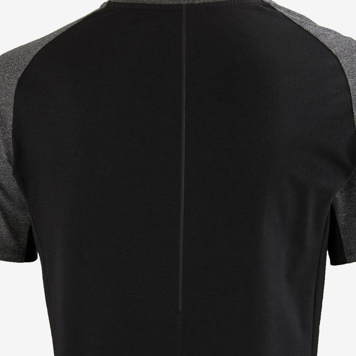 Camiseta 560 Pilates Gimnasia suave hombre gris oscuro jaspeado