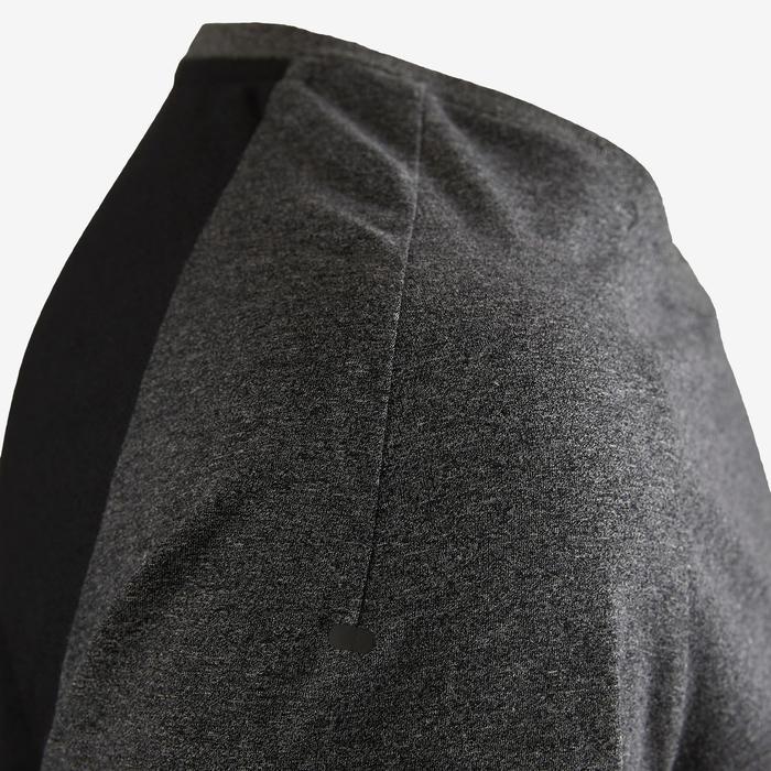 Camiseta Manga Corta Gimnasia Pilates Domyos 560 Hombre Gris Oscuro/Negro