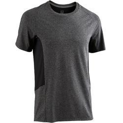 Camiseta Manga Corta Gimnasia Pilates Domyos 560 Hombre Gris Oscuro