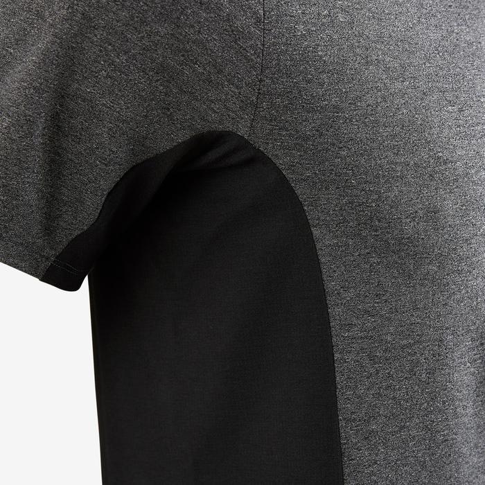 T-shirt voor pilates/lichte gym heren 560 gemêleerd donkergrijs