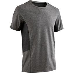 T-shirt 560 pilates en lichte gym heren lichtgrijs