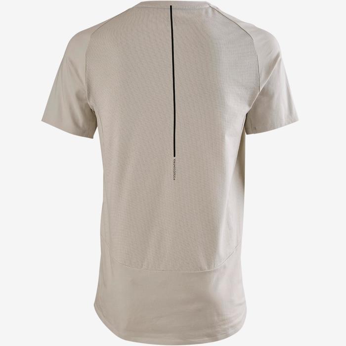 T-shirt voor pilates/lichte gym heren 560 beige