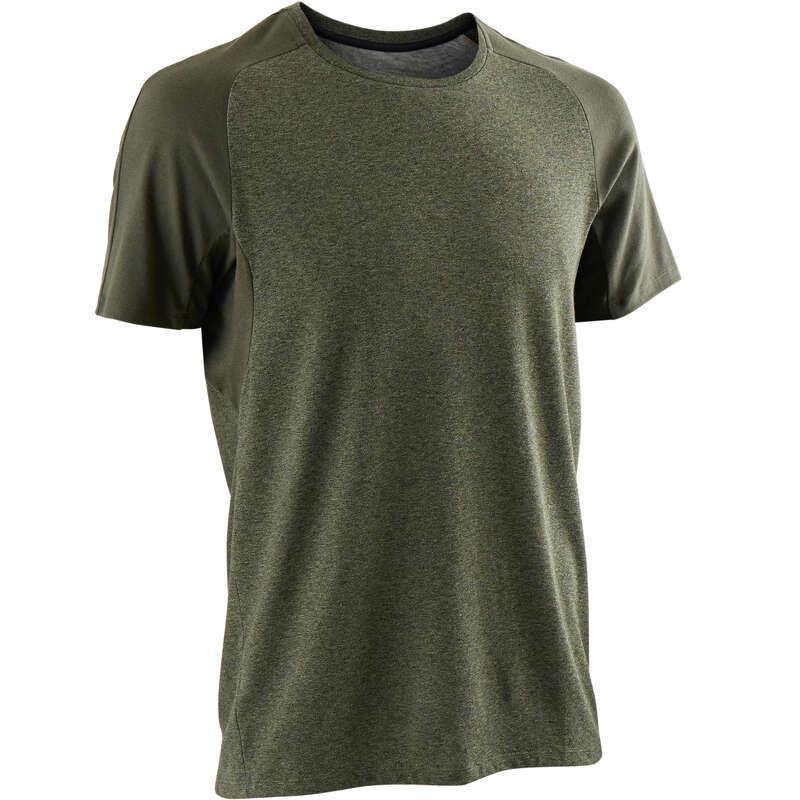 T-SHIRT E SHORT UOMO Ginnastica, Pilates - T-shirt uomo gym 520 verde DOMYOS - Abbigliamento uomo
