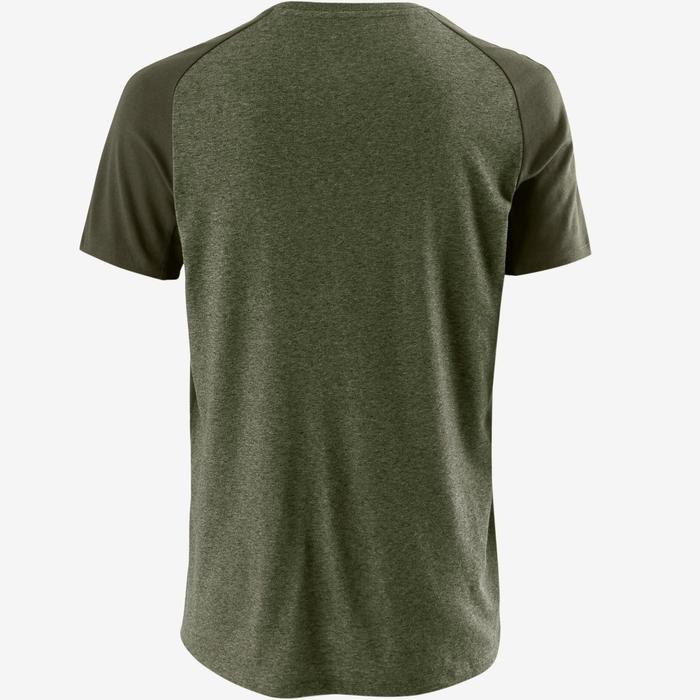 T-Shirt 520 Regular Gym & Pilates Herren khaki meliert