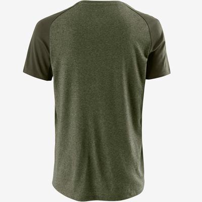 T-Shirt 520 regular Pilates Gym douce homme kaki