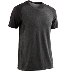 T-Shirt 520 Regular Gym & Pilates Herren dunkelgrau