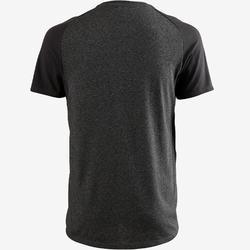 T-shirt 520 regular fit pilates en lichte gym heren donkergrijs