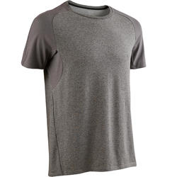 520 Regular-Fit Pilates & Gentle Gym T-Shirt - Mottled Light Grey