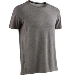 T-Shirt 520 regular Pilates Gym douce homme gris clair chiné