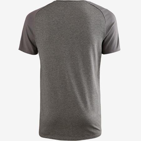 Men's Pilates & Gentle Gym Regular-Fit T-Shirt 520 - Mottled Grey