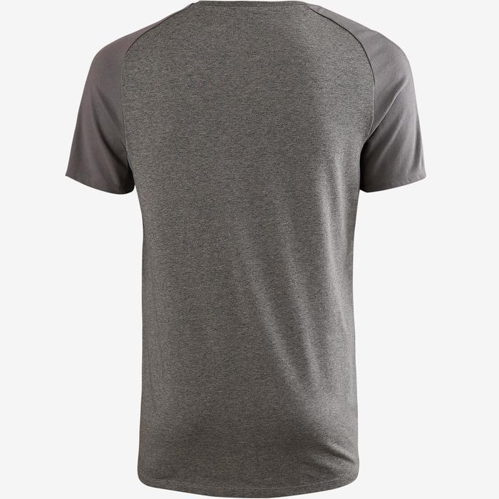 T-Shirt 520 regular Pilates Gym douce homme gris clair