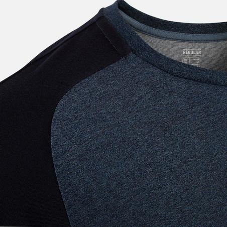 520 T-Shirt Gym Ringan & Regular-Fit Pilates - Biru Laut