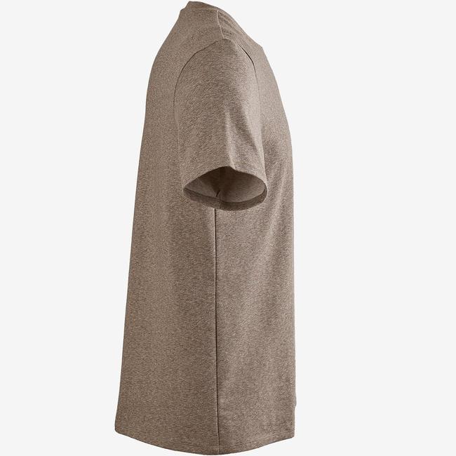 Men's Gym T-Shirt Regular Fit 500 - Heathered Brown