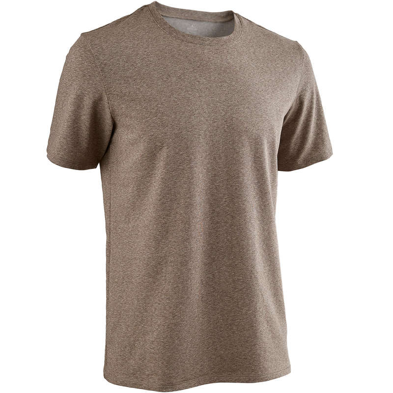 MAN GYM, PILATES APPAREL Clothing - TS 500 Regular Gym - Brown NYAMBA - Tops