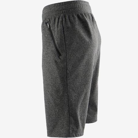Short 520 slim largo sobre rodillas. Pilates y gimnasia suave. Hombre. Gris osc
