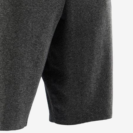 Men's Slim-Fit Long Sports Shorts 520 - Dark Grey Marl