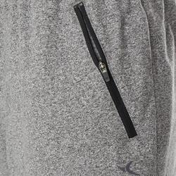 Men's Slim-Fit Long Pilates & Gentle Gym Sport Shorts 520 - Grey
