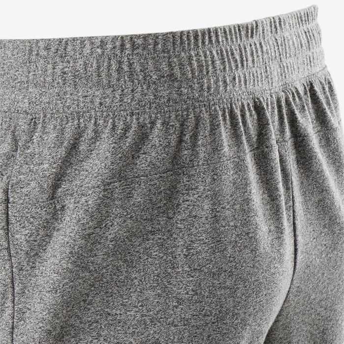 Sporthose kurz 520 Slim Pilates sanfte Gym knielang Herren hellgrau