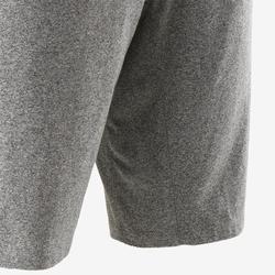 Short 520 slim au dessus du genou Pilates Gym douce homme gris clair